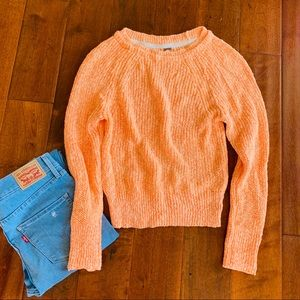 Free People Electric City Sweater in Tangerine